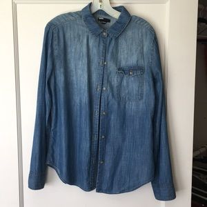 UO Denim Boyfriend Shirt